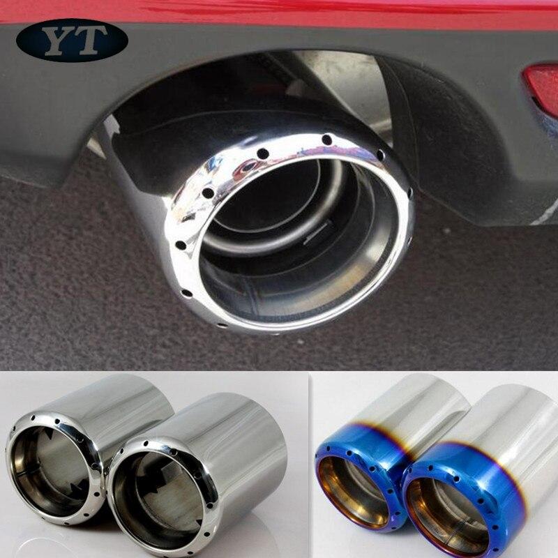 Otomatik Paslanmaz çelik egzoz ucu egzoz borusu susturucu Mazda 6 için CX-5 mazda 3 2012-2018,2 adet/takım, oto aksesuarları, Araba styling