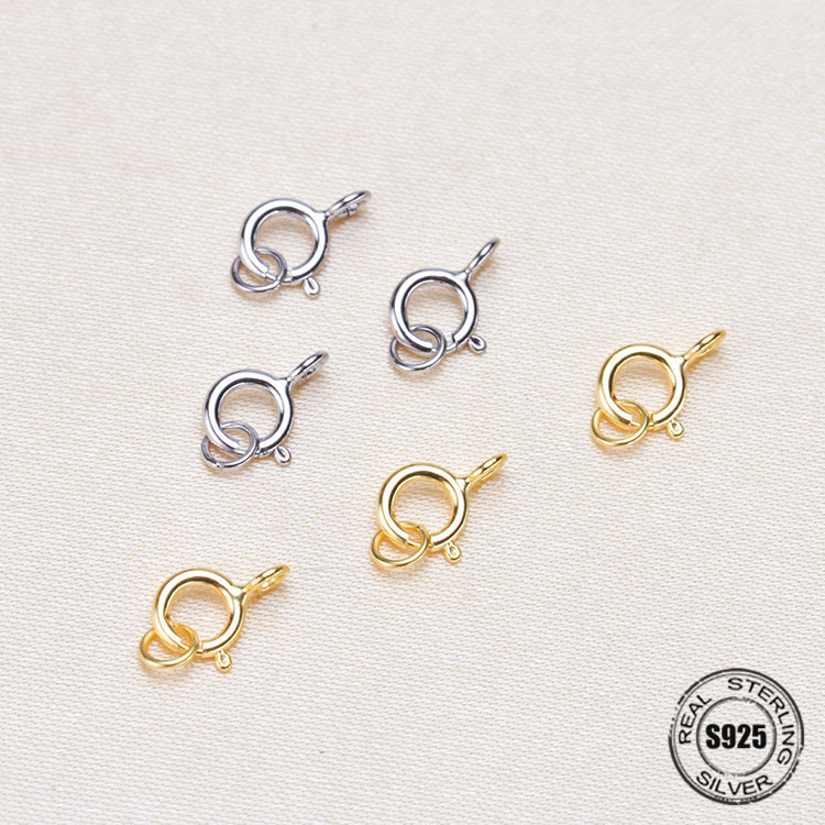 S925 silver jewelry hook clasps connector necklace bracelet DIY making