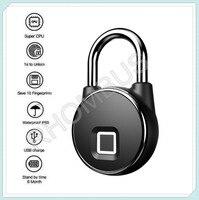 Fingerprint Door Lock Waterproof USB Charging Smart Keyless Anti Theft Padlock|Facial Recognition Device| |  -