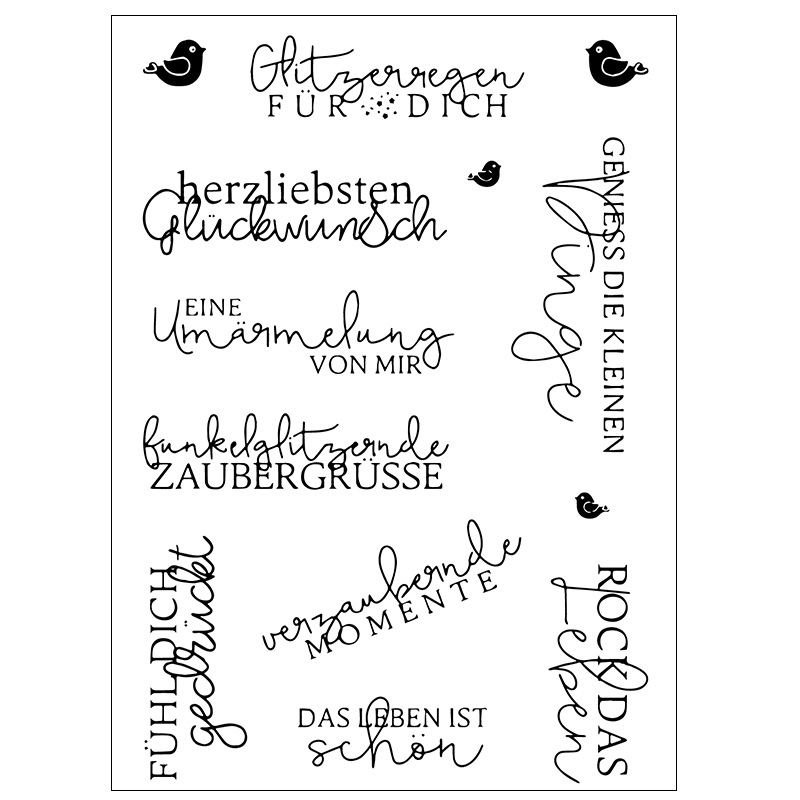 German word Transparent Clear Stamps / Silicone Seals for DIY scrapbooking photo album/Card Making