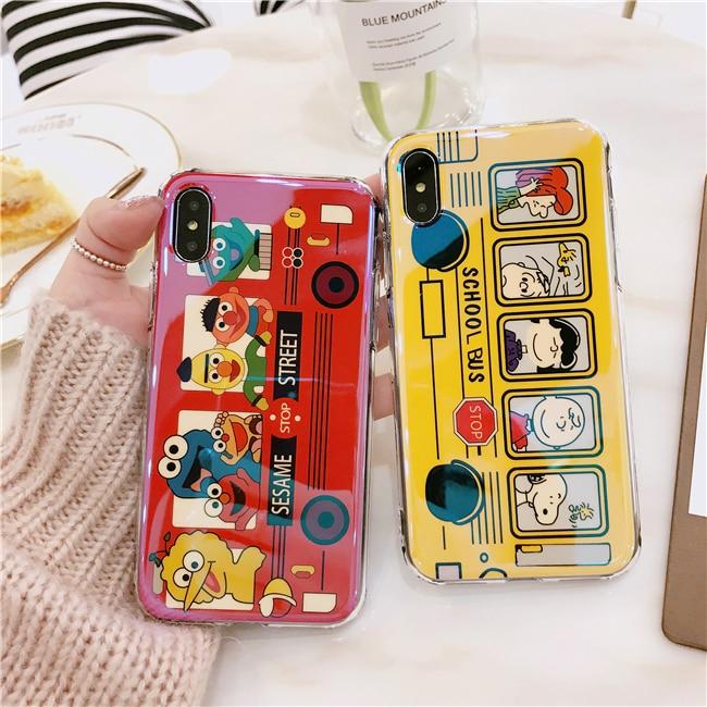 Cartoon Sesame Street case for iphone 6 6plus 6s plus 7 7plus 8 X soft phone cover Fashi ...