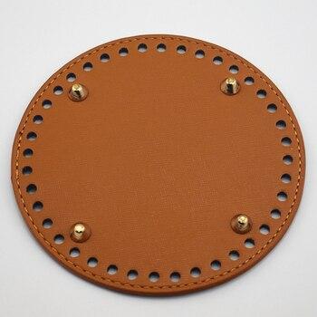 14cm Bag Bottom Round Pad Women Handbag Shoulder Bucket Bag Bottom Tray Plate Handmade Stitching Diy Part Accessories KZBT018