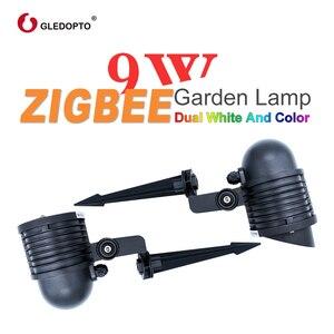 Image 3 - ZIGBEE LED garden lamp 9W ac110 240v smart APP control ZIGBEE light link rgb+cct outdoor light work with amazon echo plus zigbee