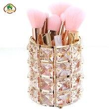 Msjo Makeup Organizer European Crystal Design Cosmetic Brush Holder Pencil Bucket Pen Storage Rack Container Box