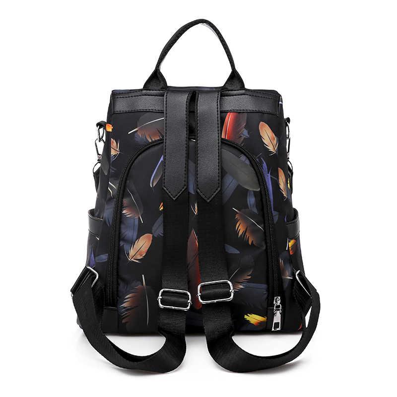 Mochilas de viaje multifunción Oxford tela Casual Anti robo adolescentes niñas escuela messger bolso de hombro Bolsa femenina