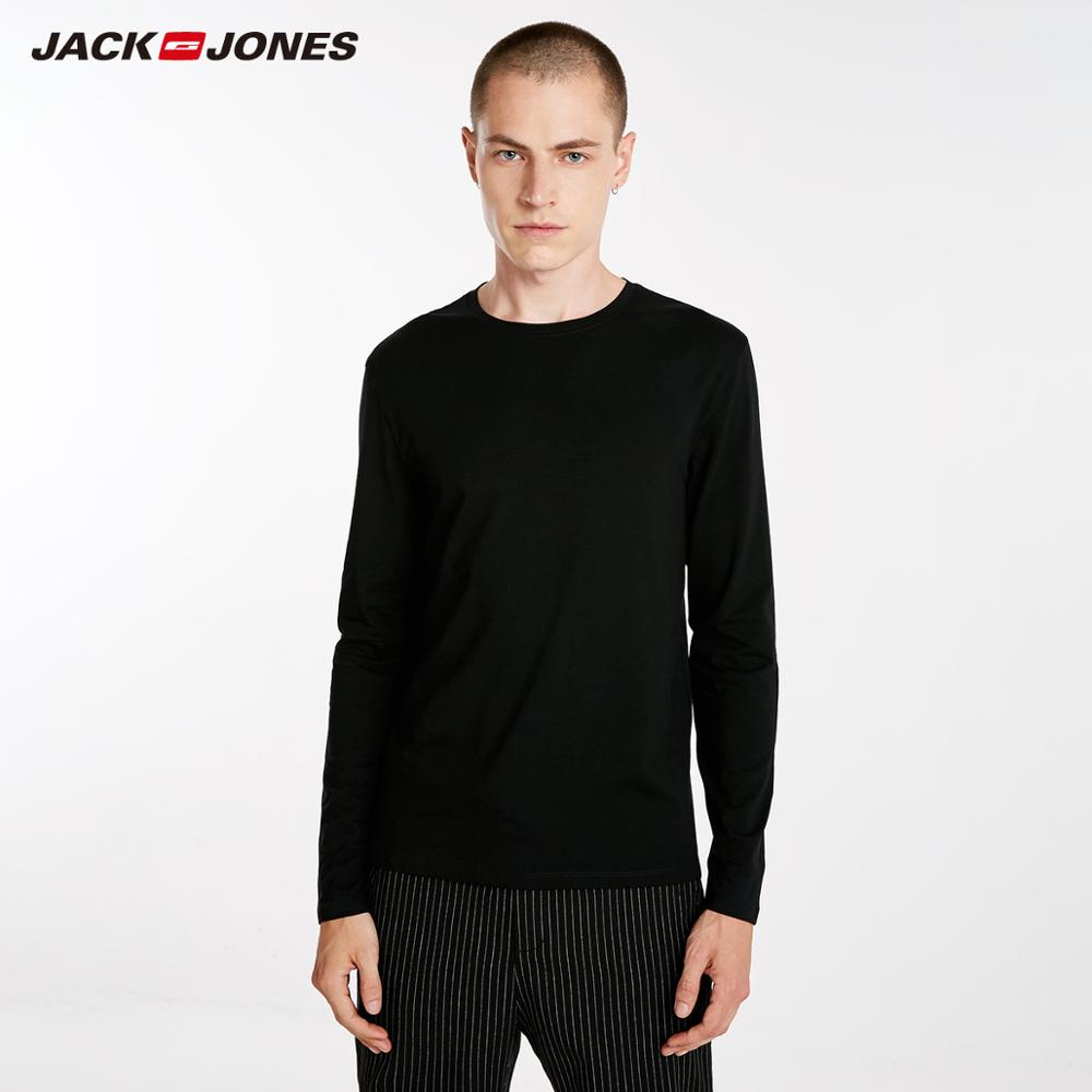 def42da0 JackJones Men's Elastic Cotton&Spandex O-neck Long-sleeved T-shirt Tops  Pajamas Homewear T shirt Fashion Menswear Male 218202501
