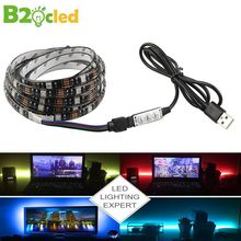 USB LED Strip 5V 5050 RGB 1M 2M TV background lighting IP65 waterproof LED light strip adhesive tape with Mini 3Key Controller neoteck 1m led rgb strip color changing usb tv background lighting smd 5050 waterproof led ribbon tape for indoor outdoor decor