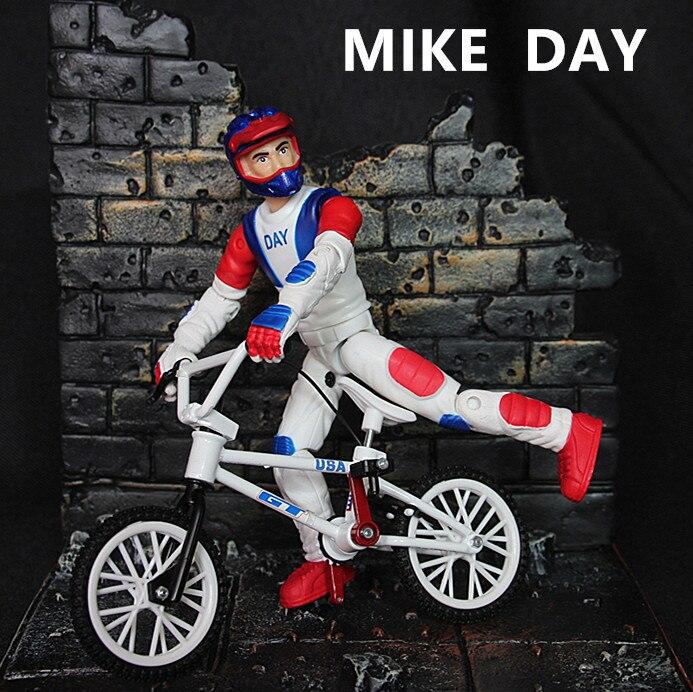 Белый мини BMX велосипед палец игрушки для детей подарок мальчиков модель Флик Трикс велосипед ...
