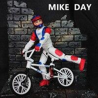 Белый мини BMX велосипед палец игрушки для детей подарок мальчиков модель Флик Трикс велосипед