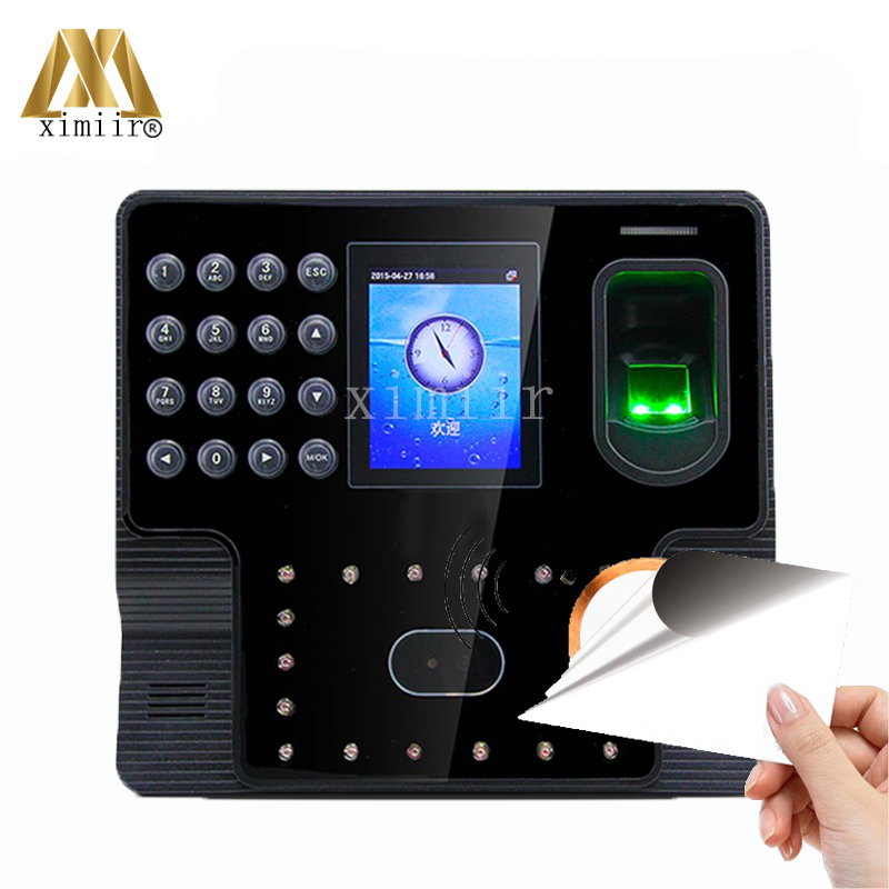 ZK Iface102 Biometric Face And Fingerprint And 13.56MHZ MF Card Time Attendance Linux System Time Clock Biometric Time Recording