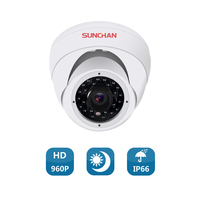SUNCHAN AHD 1 3 CMOS 3 6MM 1500TVL CCTV Indoor High Resolution Dome Security Dome CCTV