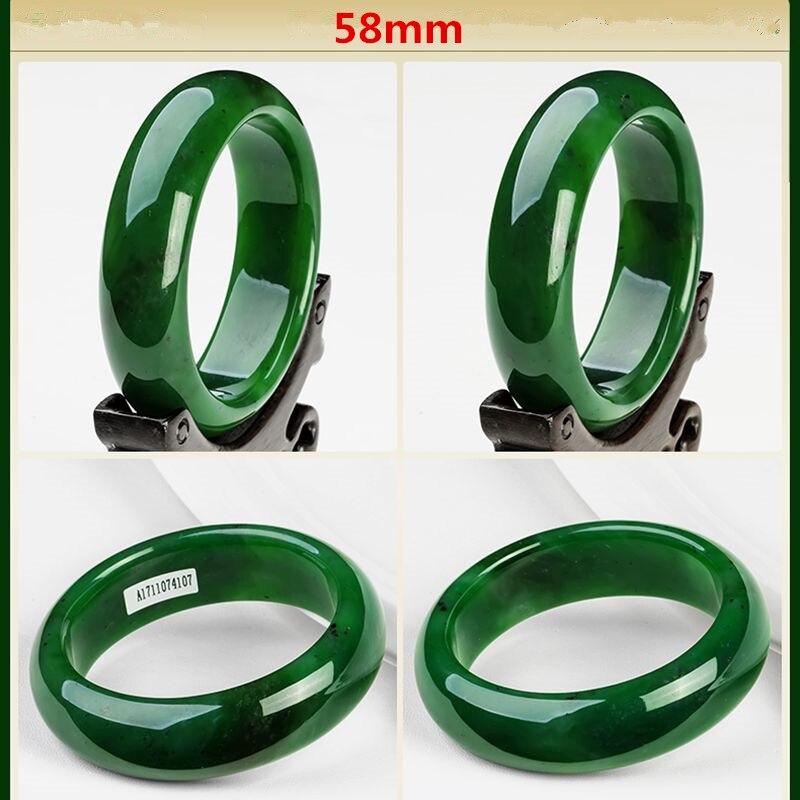 AAA красивый женский браслет китайский зеленый резной браслет 54 мм-65 мм KYY8737 - Окраска металла: 58mm