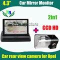 """Para Toyota Avensis 2006 2007 2008 Corolla 2007 2008 2009 2010 BYD F3 F3R aparcamiento de copia de seguridad cámara de visión trasera + 4.3 """" monitor del coche"""