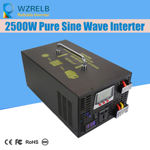 Continuous power 2500w pure sine wave solar inverter 24V to 220V off-grid pure sine wave solar inverter solar converter off grid pure sine wave solar inverter 24v 220v 2500w car power inverter 12v dc to 100v 120v 240v ac converter power supply