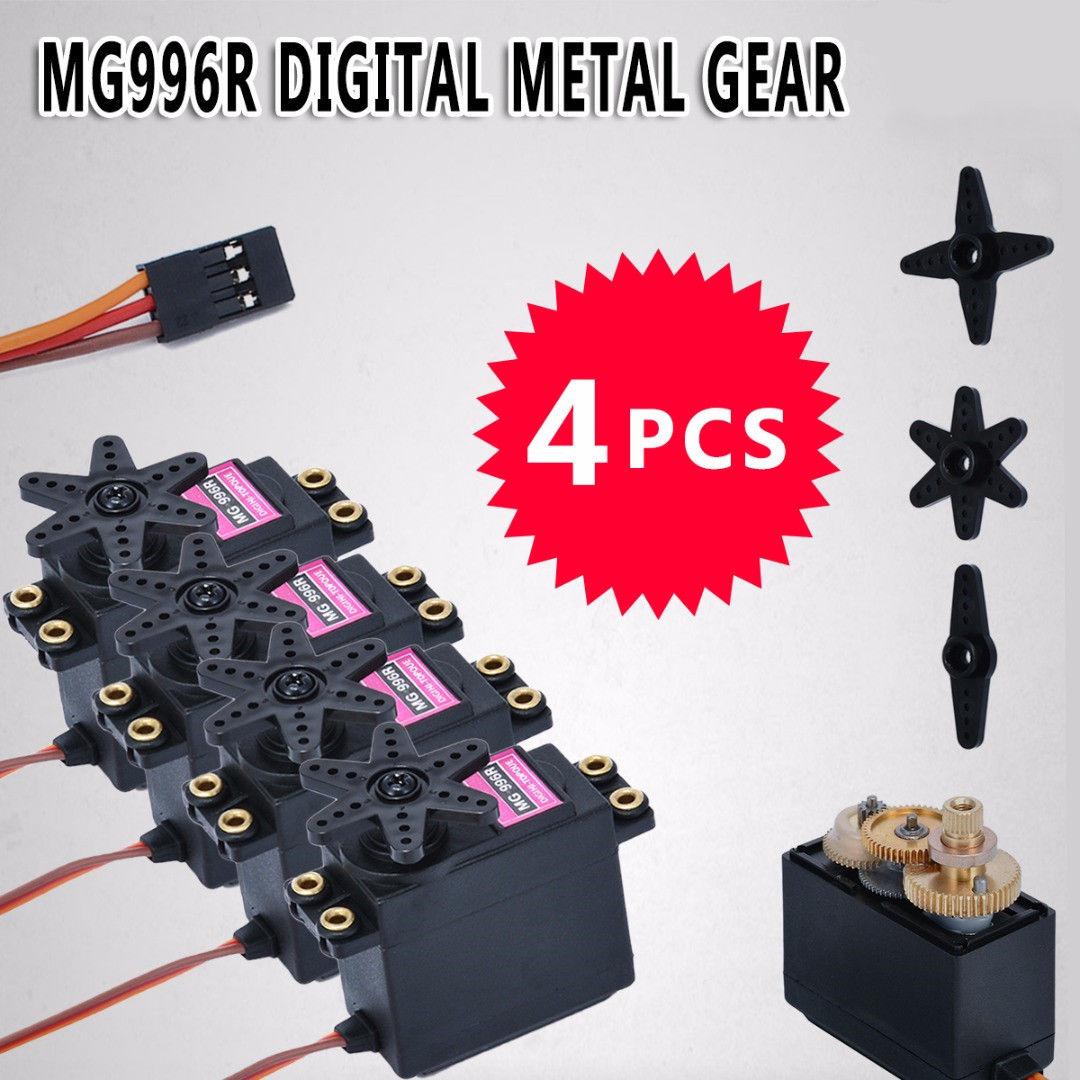 1/4Pcs MG996R Digital Metal Gear Torque For Futaba JR RC Truck Racing high quality Gear Torque-in Parts & Accessories from Toys & Hobbies