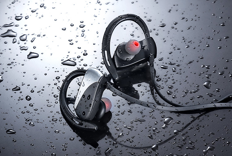 Sport Wireless Bluetooth Earphone Stereo Waterproof Earphones And Headphone Running 4.1 hook Earphones With Microphone Color