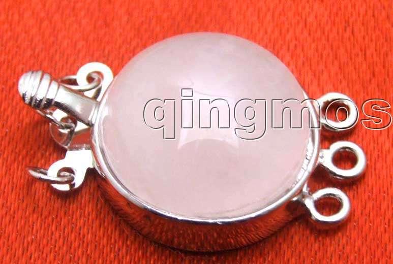 VENTE Big 18mm Ronde rose cristal Trois brins Clasp-gp172 Gros/au détail shippi Gratuit