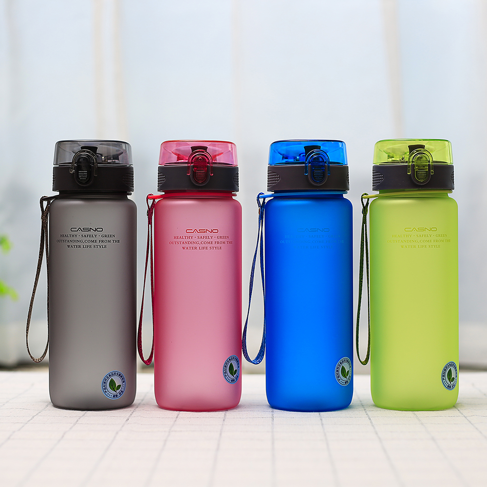 CASNO Drinkware 1000ml plastic water bottle with rope direct drinking for adults sport