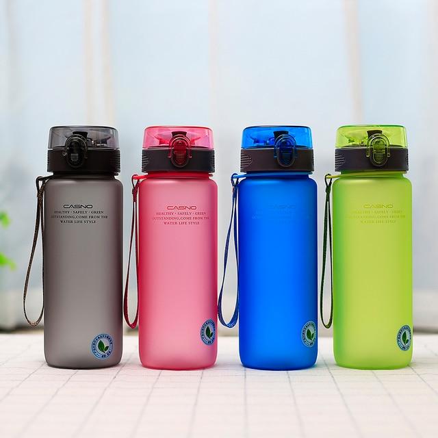 13a04a8dc CASNO Drinkware 1000 ml beber direto da garrafa de água de plástico com uma  corda para