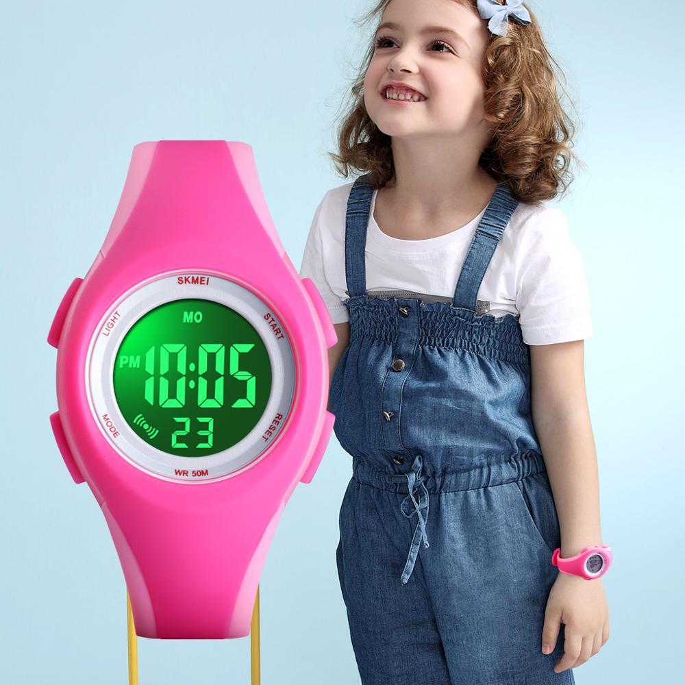 8ee185e60 العلامة التجارية SKMEI الأطفال ووتش 50 M للماء كرونوغراف ساعة توقيت الرياضة  الساعات لصبي أزياء فتاة