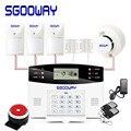Sgooway Sem Fio Wired Assaltante gsm Home Security Sistema de Alarme Com Discagem Automática Porta Detector De Sensor de Movimento