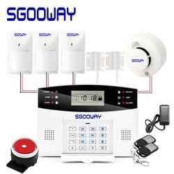 Sgooway bezprzewodowy przewodowy system antywłamaniowy gsm bezpieczeństwa domu z Auto Dial czujnik ruchu drzwi