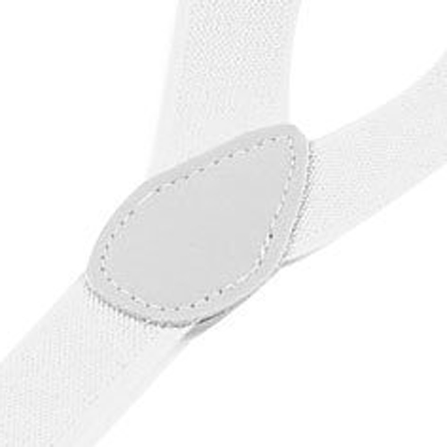 Hot Lady Woman Adjustable Metal Clamp Elastic Suspenders Braces - White