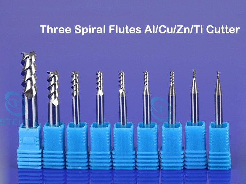 CNC Downcut Spiral Router Bit 1//4-Inch Shank HRC55 1//8-Inch Cutting Diameter