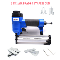 SF3232 2 In 1 Combi Nailer Pneumatic Nail Gun 18Ga Air Stapler For Frame With Staples & Nails Carpentry Woodworking Tools