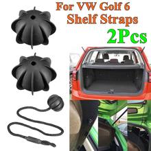 2Pc Hatchback Parcel Shelves Trunk Lid Back Shelf String Holding Strap Rope SmallBall For VW Golf 6 GTI R20 MK5 1K6 863 447 A(China)