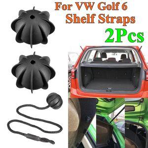 2Pc Hatchback Parcel Shelves Trunk Lid Back Shelf String Holding Strap Rope SmallBall For VW Golf 6 GTI R20 MK5 1K6 863 447 A