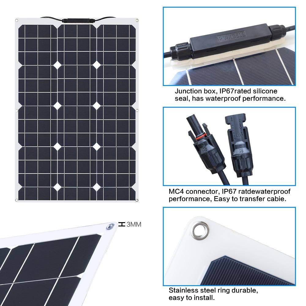 60W 18V flexible solar panels 4