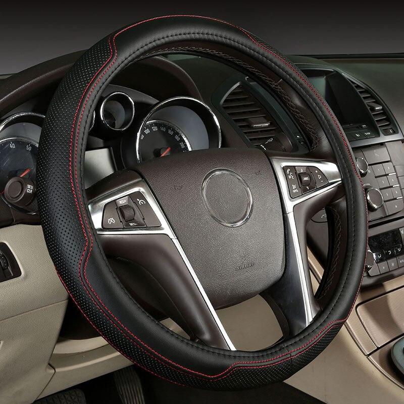 car steering wheel cover genuine leather accessories for changan cs35 cs75 eado raeton