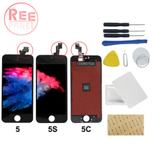ФОТО reepanel for iphone 5s lcd display 5c touch screen display for iphone 5 5s screen digitizer assembly replacement 5 5s 5c