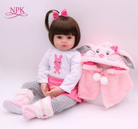 NPK 47CM Silicone Reborn Super Baby Lifelike Toddler Baby Bonecas Kid Doll Bebe Reborn Brinquedos Reborn Toys For Kids Gifts