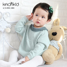 Kacakid childrens wear baby girls boys long sleeve Bodysuits Kids knitted clothes bodysuits climbing sweater