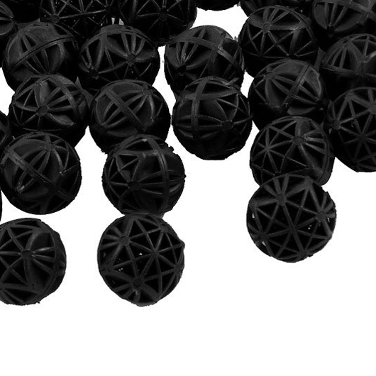 SZS Hot 50 Pcs 18mm Diameter Black Bio Balls for Aquarium Pond Filter