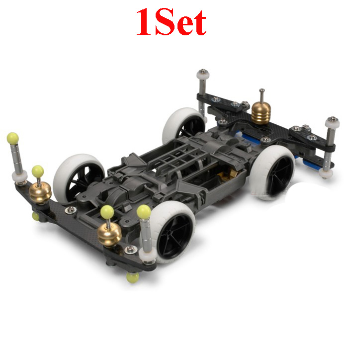 1 Set 95263 MS EVO.1 MSL châssis avant arrière plaque de renfort vis de roue pour RC modèles voitures bricolage Tamiya Mini 4WD voitures de course