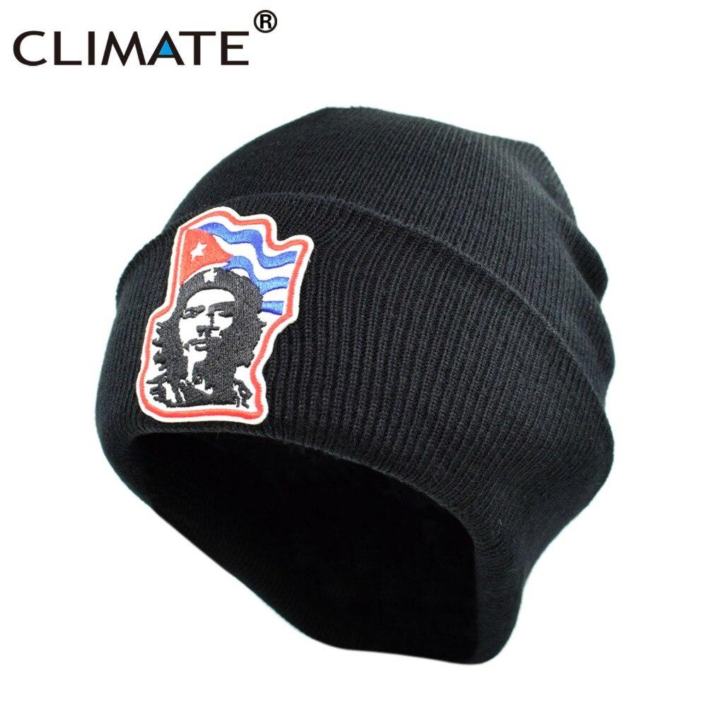 Clima hombres mujeres negro Invierno Caliente Beanie hat Ernesto el Che  Guevara caliente gorros de punto hip hop sombrero para adultos hombres  Mujeres ... 845d5161fe5