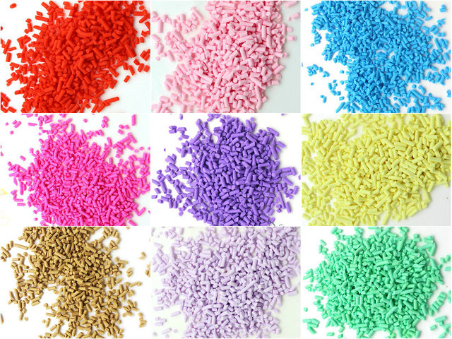 50g 2mm 6mm Tiny Fake Sprinkles Colorful Faux Chocolate Topping ...