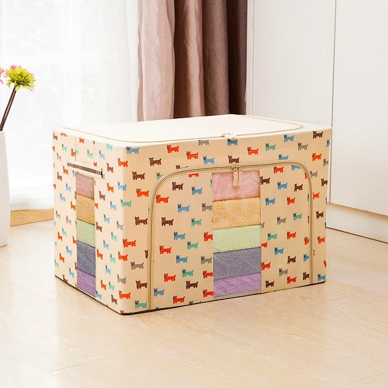 Коробка для хранения из ткани Оксфорд, большая отделочная коробка с крышкой, стальная коробка для стальных одеял, коробки 50*40*33 см, все виды о