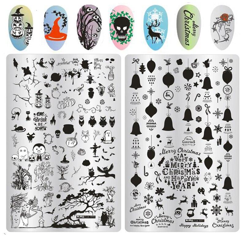 1PC Halloween Christams Pattern Nail Stamping Plates ZJoy Plus 9.5*14.5 Konad Nail Polish HALLOWEEN Stamp Stamping Nail Art DIY лаки для ногтей konad stamping set стемпинг сет для начинающих