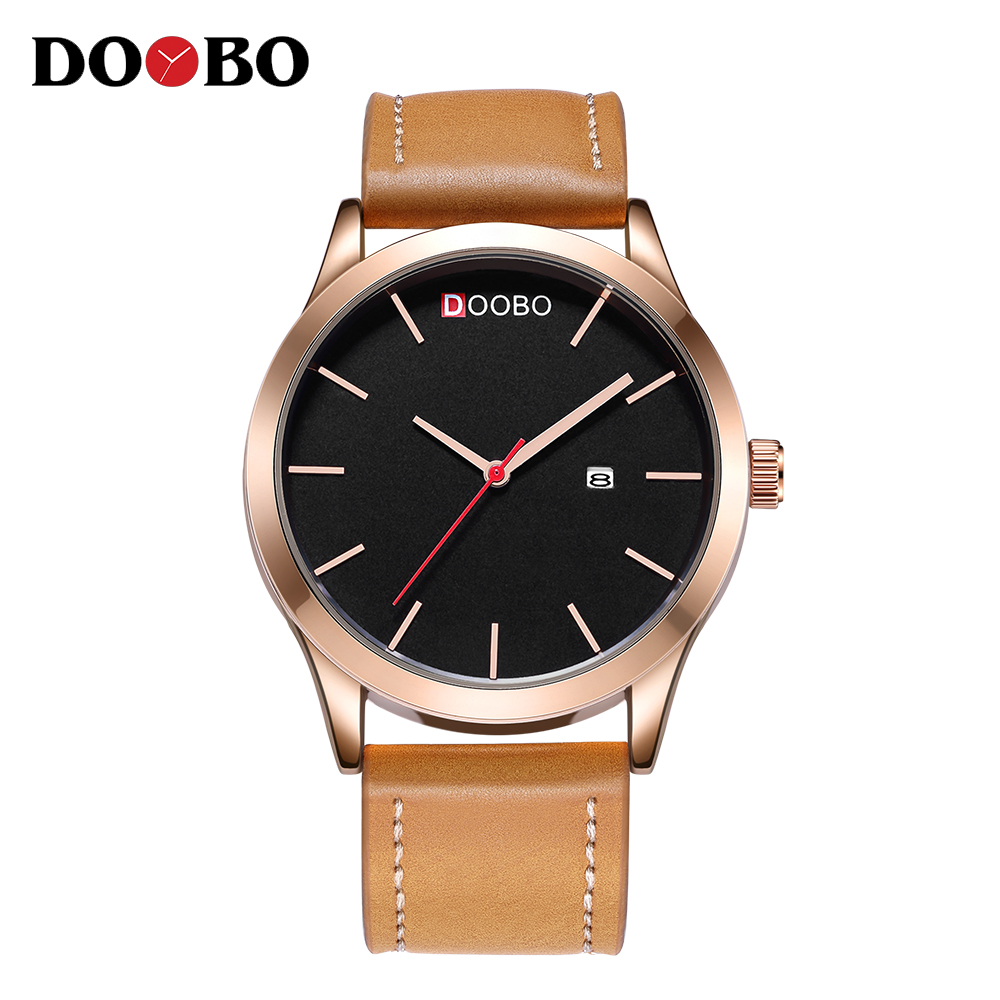 DOOBO Luxury Brand Relogio Masculino Date Leather Casual Watch Men Sport Watches Quartz Military Wrist Watch Clock Dropshipping dropshipping boys girls students time clock electronic digital lcd wrist sport watch relogio masculino dropshipping 5down