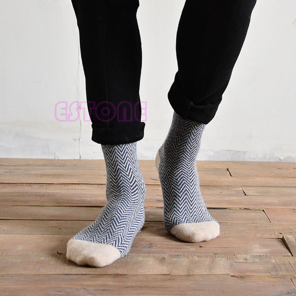4 Pairs Men Warm Winter Thick Wool Mixture Angora Cashmere Casual Dress Socks #1252# ...