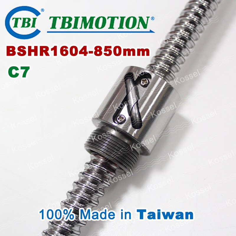 TBI Ball screw 1604 C7 850mm with 4mm Lead Without Flange Ballnut BSH1604 for CNC kit tbi ball screw 2005 c7 1000mm with 5mm lead without flange ballnut bsh2005 for cnc kit backlash