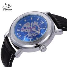 2017 SHENHUA Skeleton Mechanical Watch Automatic Men Classic
