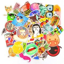 100 Pcs lot Do Not Repeat PVC Waterproof Fun Name Sticker Toys The Luggage Fashion Laptop