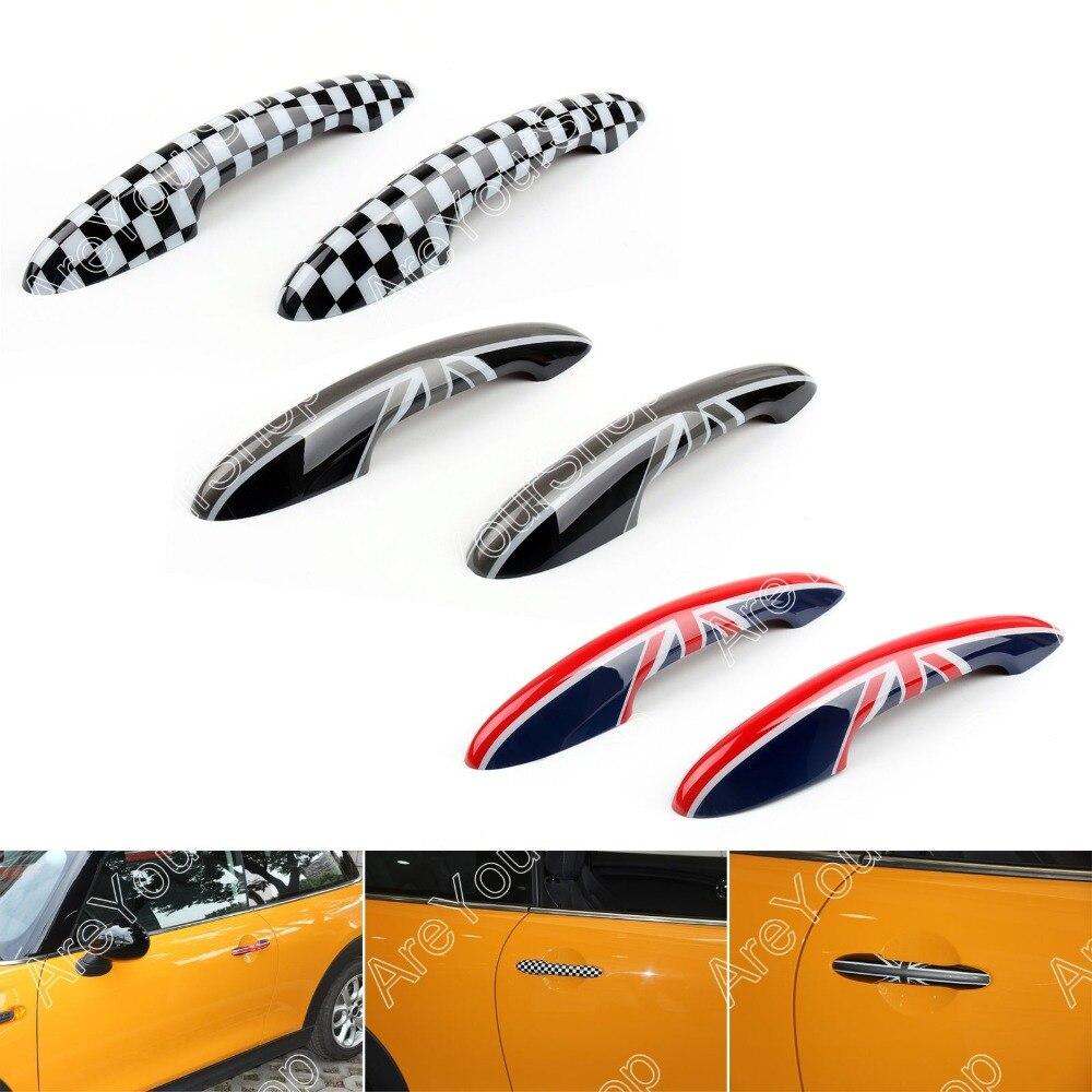 Design of car jack - Sale 2x Black Union Jack Flag Design Car Door Handle Covers For The Cars For Mini