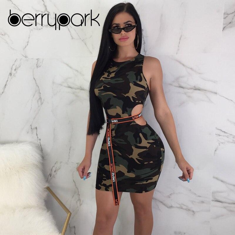 BerryPark Camouflage Sport Long Tank Sportswear 2019 Women Sleeveless Running Clothes Workout Wear Fitness Suit Gym Tennis Dress