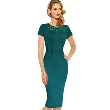 Vfemage Womens Elegant Vintage Hollow out Bodycon Dress